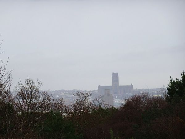 Liverpool cathedral view from bidston hill Architecture Built Structure Sky Outdoors Autumn Day In Distance View From Bidston Hill