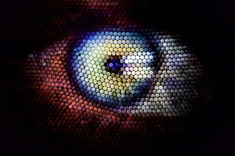 eye see you Abstract Abstraction Straw Strawphotography Strawcamera Eyeball Eye Fineart Art Illuminated Afghan Girl Indoors  Textile Day AI Now EyeEm Ready