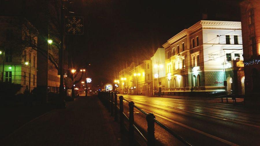 Jagiellonska St. Night Photography Empty Street SlowDown