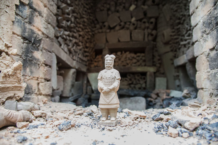 Old Ancient Terracotta Warriors Statue