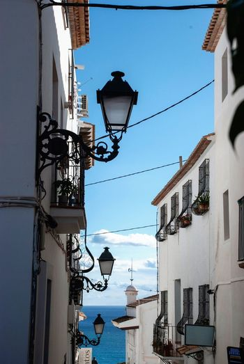 Altea lanters Costa Blanca Generic Architecture Altea Spanish SPAIN Village Lane Alley Houses Stairway Building Exterior Built Structure Architecture Lighting Equipment Sky Building No People Residential District Hanging Day Outdoors Electricity  Street Street Light Lantern