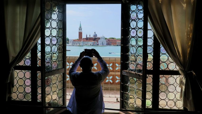 EyeEmReady Dogenpalast Venice, Italy Architecture Curtain One Person Photographer Real People Window EyeEmNewHere Your Ticket To Europe The Week On EyeEm