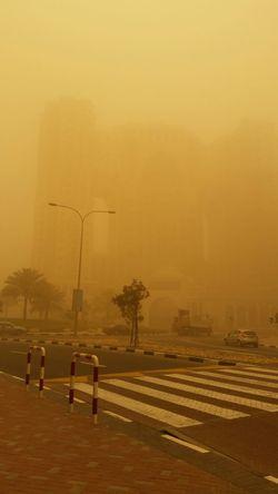 Sandstorm Dubai Dusty Poor Visibility