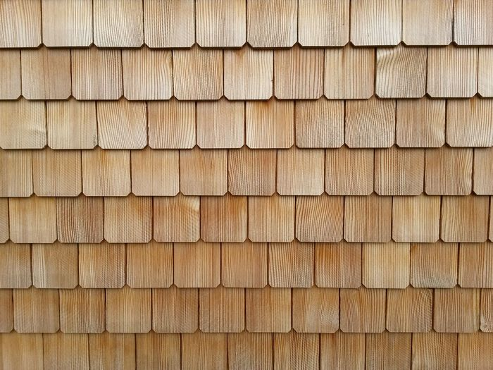 Wood - Material Wood Shingles Holzschindeln No People Building Exterior Old-fashioned Backgrounds Pattern Brown Textured  Wood Grain Material Abstract Brown Background Hardwood Colored Background