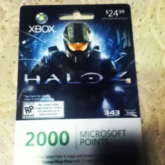 Microsoft Points Xbox360 Halo4 Xboxlive Amazing