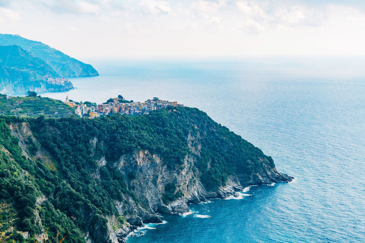 Scenic view of shore in italy