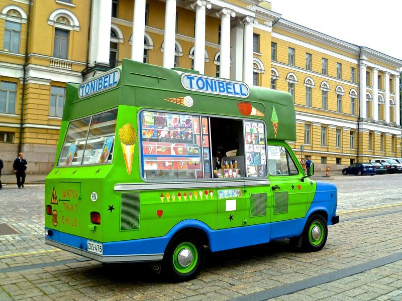 Helsinki Finland European Ice Cream Truck Foreign Cars Green Europe Travel Fun Cars 2011 Picoftheday