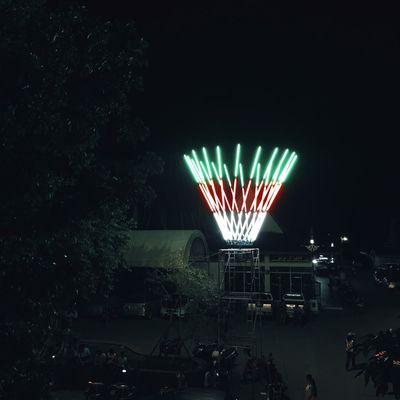 City Life Dark Glowing Illuminated Light Lighting Equipment Multi Colored Nature Night No People Outdoors Sky