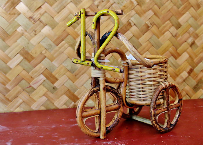 Dose Nativecraft Number Number12 Rattan Tricycle Twelve Woodentoy