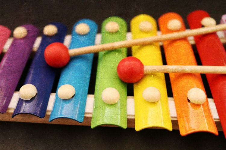 Close-up of toy xylophone