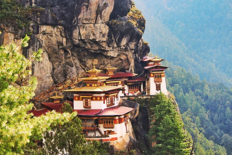 Tiger Nest Monastery Architecture Religion Hilltop Outdoors Peaceful