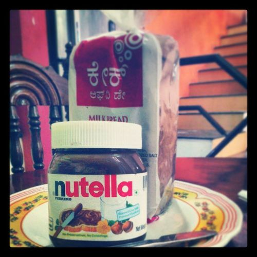Cake of the day and Nutella better love story than twilight. Bunkingschool Ferrero Nutella Milkbread :D