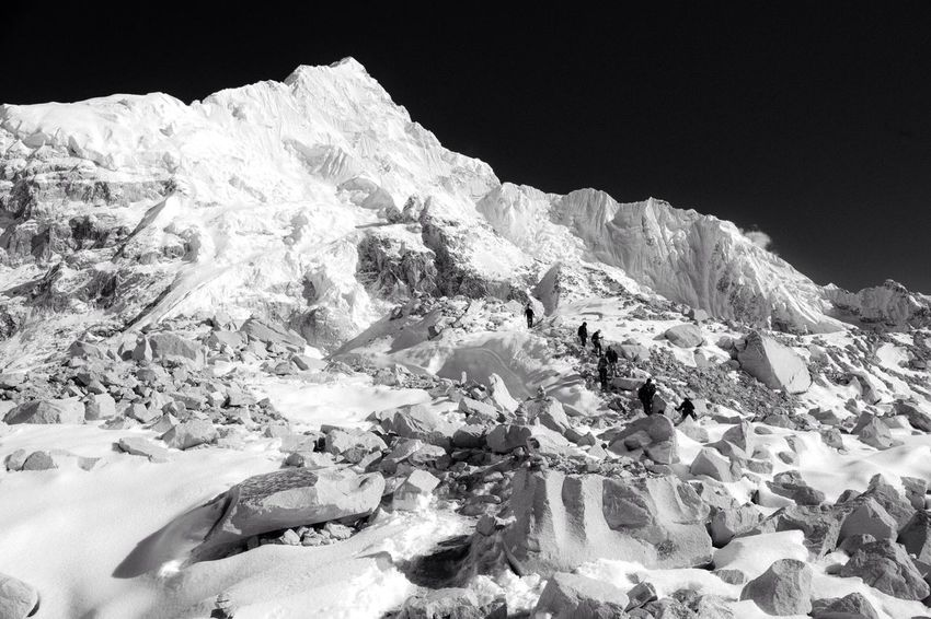 Descending from Everest Base Camp (5364m) Travel Photography Black And White Everest Base Camp Everest Region Landscapes With WhiteWall Great Outdoors With Adobe The Great Outdoors With Adobe The Great Outdoors - 2016 EyeEm Awards Fine Art Photography Adventure Club
