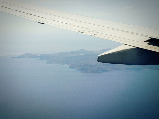 Plane From The Plane Window Airplane Ocean View Ocean Airplane View View From The Airplane Window Airplane Wing Flugzeug Flug Fog Open Edit OpenEdit