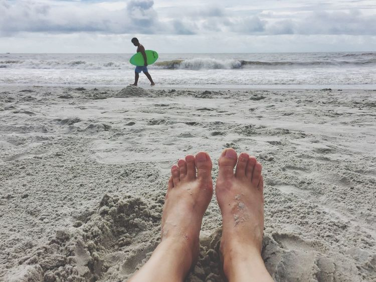 Feet Summer Ocean Sea Beach Water Sky Day Sand Vacations Barefoot Shore Leisure Activity
