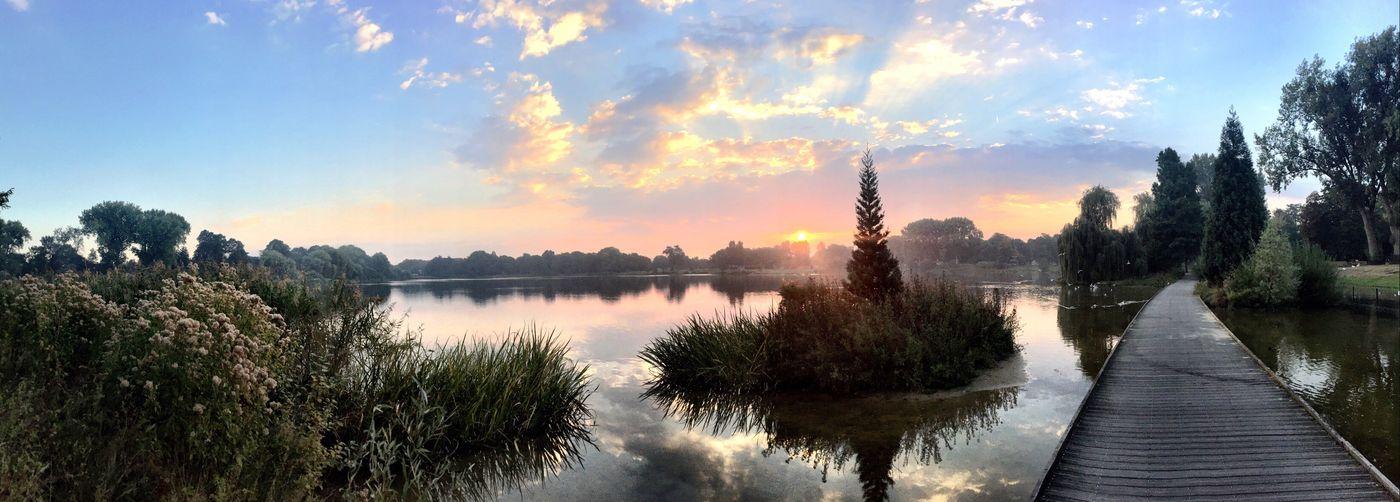 Water Tranquil Scene Sunrise