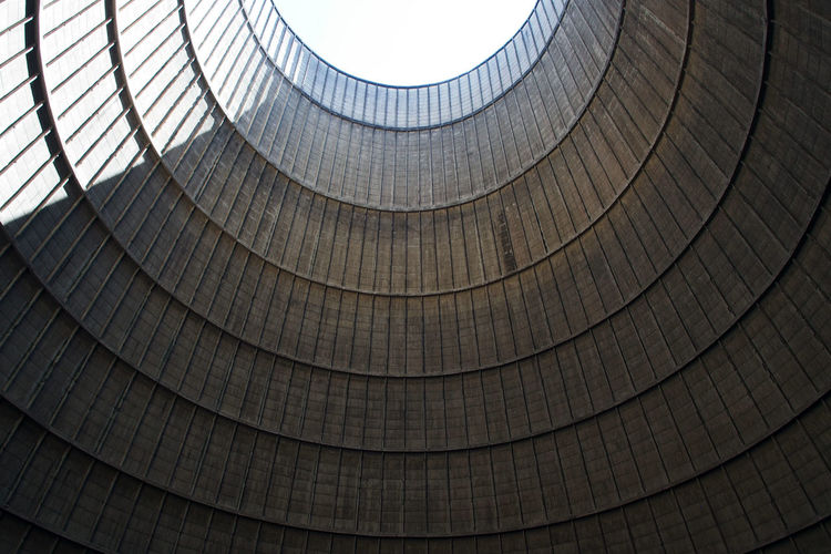 Low angle view of cooling tower