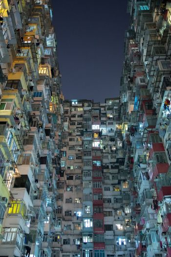 HongKong Architecture Building Exterior City Night Illuminated Built Structure Building No People