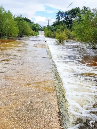 Low Water Crossing Creek Water Beauty In Nature Thunderstorms Storm Texas Landscape Texas Hill Country Americana Rainy Days Flood