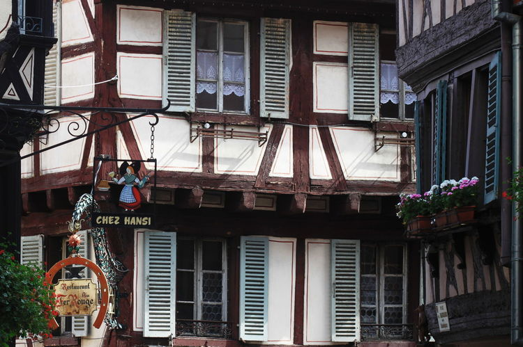 Colmar, Alsace, France Architecture Building Exterior Built Structure City Day Hanging No People Outdoors Summer 2013