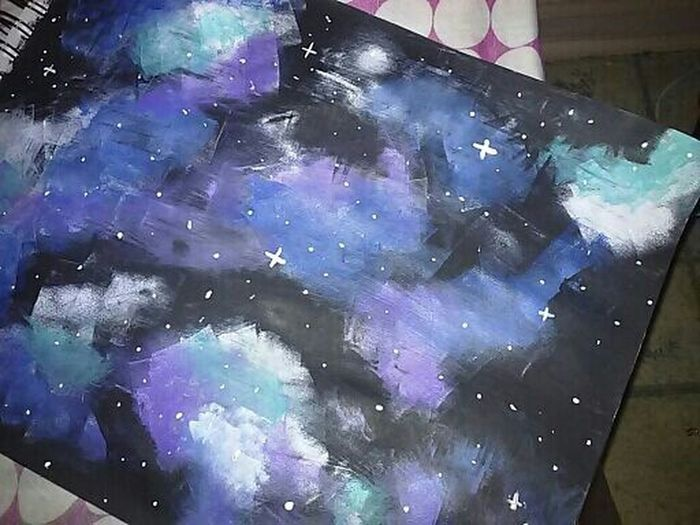 I painted a galaxy!!!