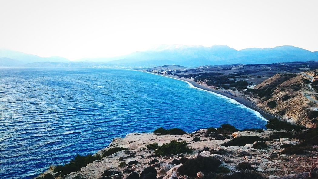 Landscape Mountain Outdoors Scenics Lake Beauty In Nature Water No People Day Komos Beach Crete Greece