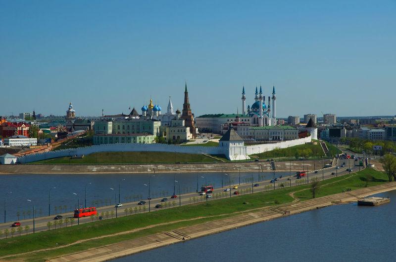 Казанский кремль Architecture Capital City Cityscape Day Kazan Kazan Kremlin Kremlin Nautical Vessel Outdoors Sky Tatarstan Travel Destinations Unesco Казанский Кремль река чистое небо ЮНЕСКО
