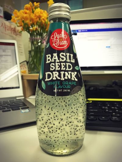 Drink Basil Seed Basil Seed Drink Thailand Food