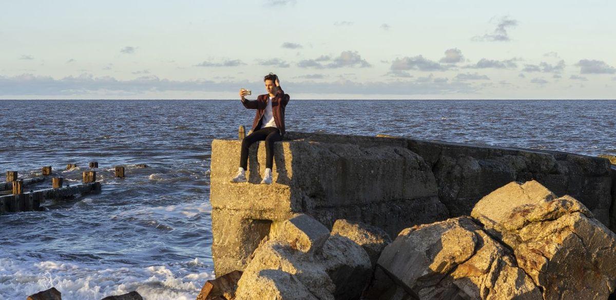 posing Model Man Pose Adidas Sea Britain England Tourism Sea Full Length Beach Portrait Sky Horizon Over Water Wave Coast Shore