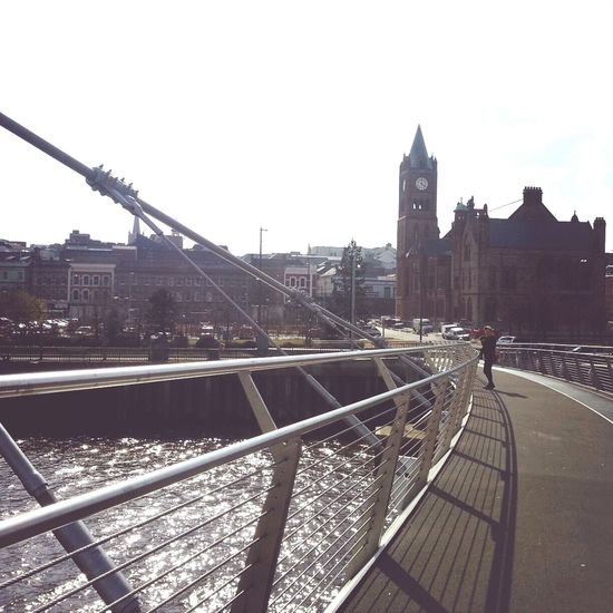 peace bridge Derry Londonderry Holiday