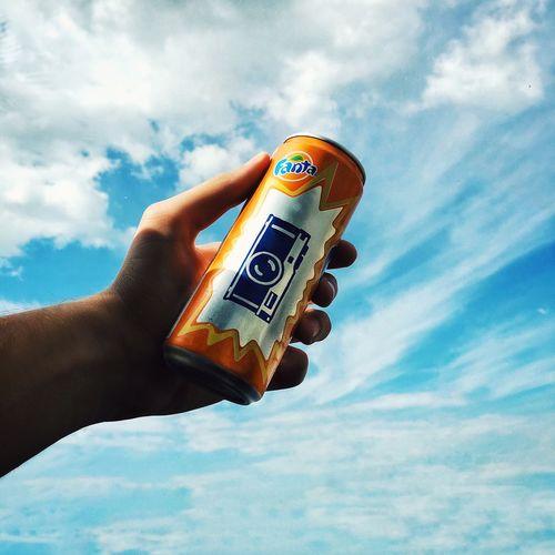 Fanta InstaDimka Iphotograph IPhoneography Sky Blue Sky Arm Photo