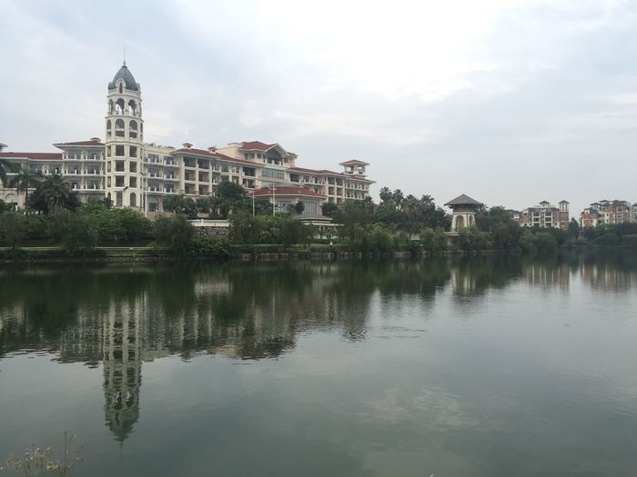 River with buildings in background