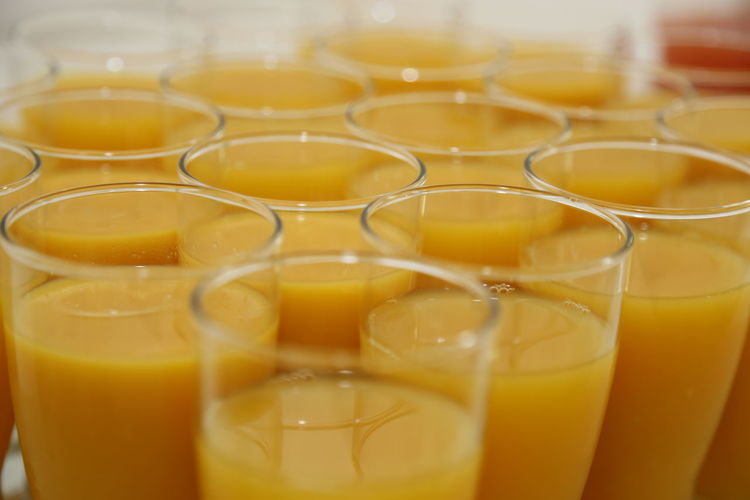 Abundance Arrangement Backgrounds Close-up Detail Focus On Foreground Freshness Full Frame Liquid Multi Colored No People Orange Color Orange Juice  Refreshment Selective Focus Side By Side Still Life Yellow