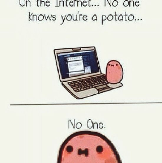 I say no one >:( Potato Phat Photo Internet Noone
