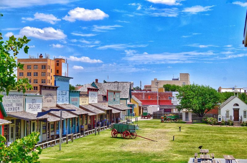 MidWest Cowboys Kansas Boot Hill Boot Hill In Dodge City, KS Dodge City Architecture Building Exterior House Built Structure Residential Building Grass City Sky Day Outdoors