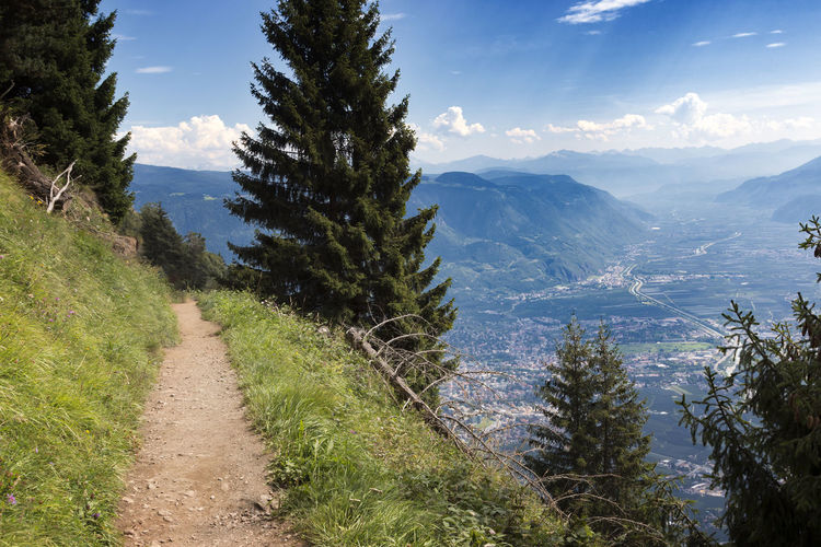 vellauer trail in meran italy Abyss Beauty In Nature Dangerous Day Grass Growth Landscape Mountain Mountain Range Nature No People Outdoors Plant Scenics Sky South Tirol Tranquil Scene Tranquility Tree Vellau Vellauer Felsenweg Vellauer Trail Viewpoint