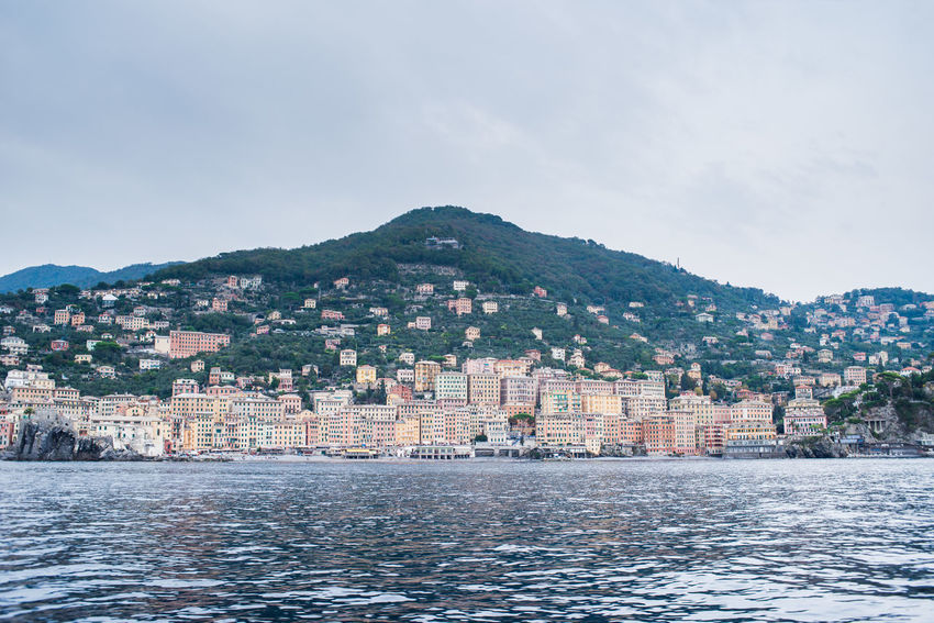 Nature Reflection A Large Group Of Objects Adventure Italian Liguria Mountain Mountain Range Outdoors Overview Port Town Residential Building Scenics Sea View From The Boat Water Water Surface Waterfront