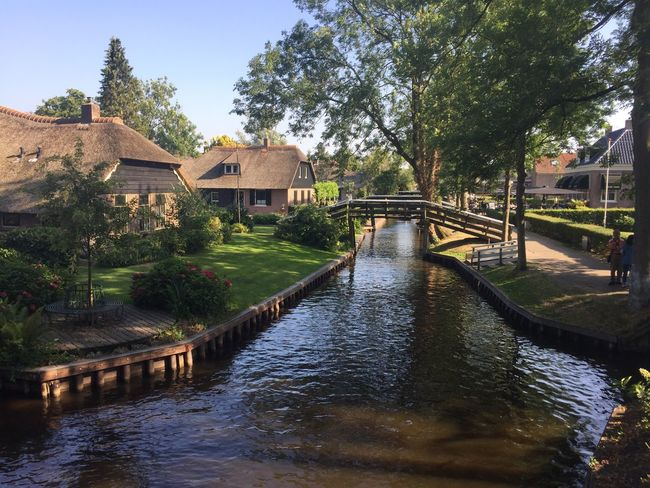 Giethoorn Hollande Architecture Built Structure Water Building Exterior Tree Plant Building