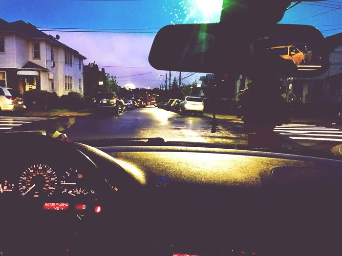 Morning chronicles 🌘 Car Transportation Vehicle Interior Land Vehicle Car Interior Mode Of Transport Windshield Dashboard Sky Speedometer Illuminated Day No People Architecture Outdoors