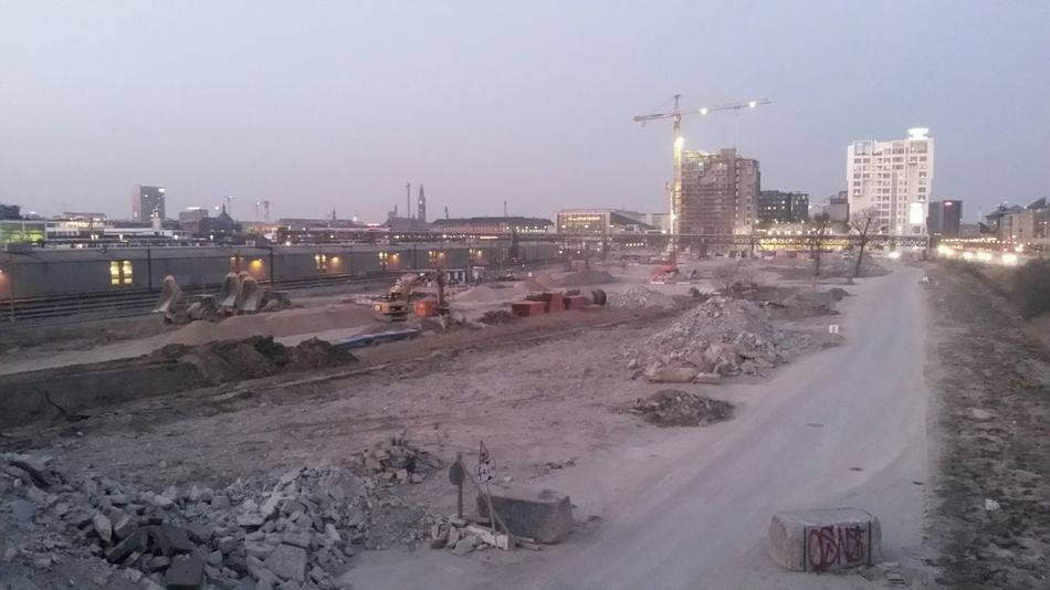 Railway Cityscapes Dusty Building Site Transformation Industrial Landscapes