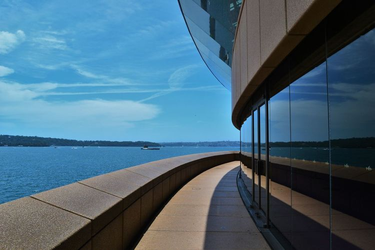 Walkway At Sydney Opera House By Sea