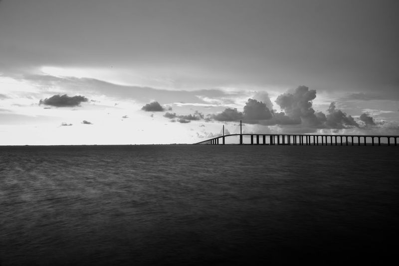 Endless bridge - man made structure monochro Bridge - Man Made Structure Blackandwhite Sky Water Cloud - Sky Scenics - Nature Built Structure Sea Beauty In Nature Architecture No People Waterfront Day Land Nature Bridge Outdoors Non-urban Scene Tranquil Scene Tranquility Silhouette EyeEmNewHere My Best Travel Photo Silhouette Beauty In Nature Architecture Land Tranquility Horizon Connection