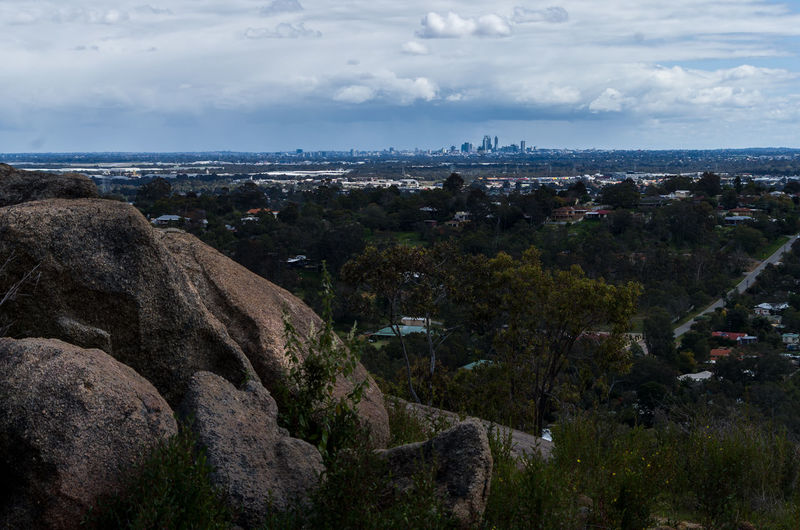 Perth as seen from the hills. Aerial View Beauty In Nature City City Life Cityscape Cloud - Sky Day Distant Nature No People Non-urban Scene Outdoors Remote Residential District Scenics Sea Sky Tourism Tranquil Scene Tranquility Water Wide Shot