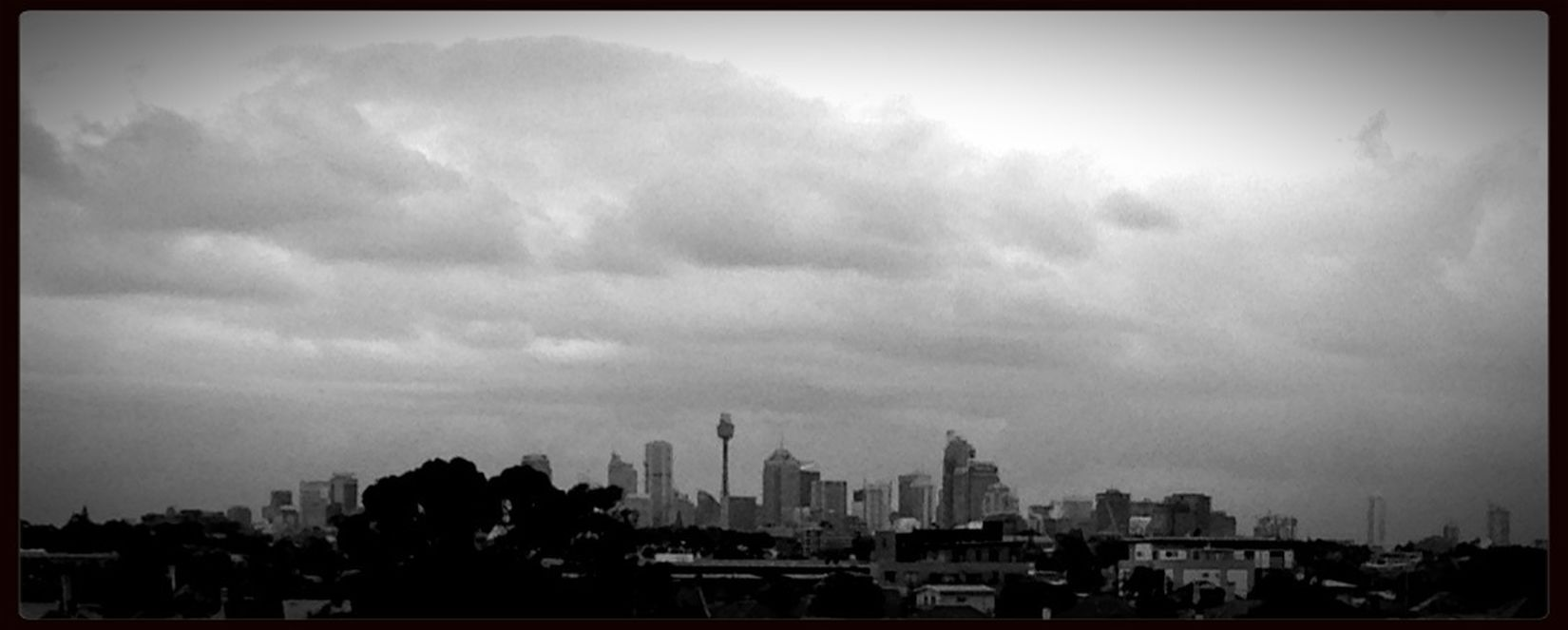 A grey old day with heavy Clouds in Sydney today. Cityscapes Black And White
