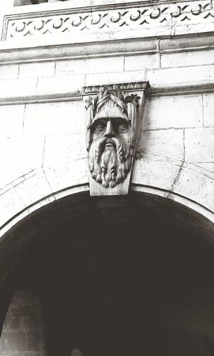 South Bombay Ancient Art Sculpture British Buildings Indianflags Godface Blackandwhite Shades