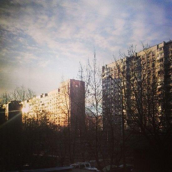 Я же говорила, что будет солнце ;3 Москва отрадное свао