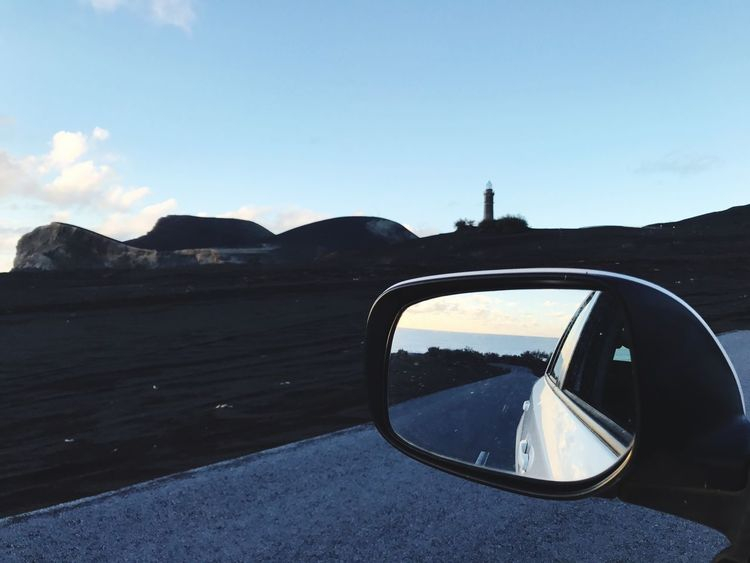 Day No People Car Sky Nature Side-view Mirror Mountain Landscape Outdoors Scenics Beauty In Nature Close-up Vehicle Mirror Azores Faial Island Azores Islands