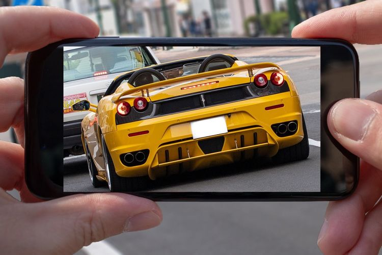 A bit of Photoshopping Photoshop 300mm Lamborghini Human Hand Hand Human Body Part Holding Human Finger One Person Finger Smart Phone Leisure Activity Mode Of Transportation