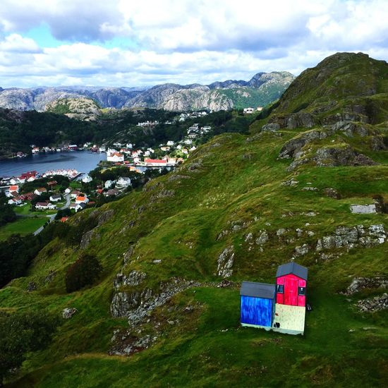 Norway Norge Cottage Pink Blue Adorable Island Hidra Northsea North Sea Art Hike Hiking Hikingadventures Finding New Places