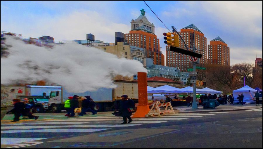Cold & Windy today - 3/4/17 @ Union Sq. Farmers Mkt., Sat. Billows Of Steam CanonpowershotG7X EyeEm Best Shots EyeEm StreetPhotography, NYC Hello. Hurrying Around Letting Off Steam, 🤣🤣 Malephotographerofthemonth The City I Live In The City Light